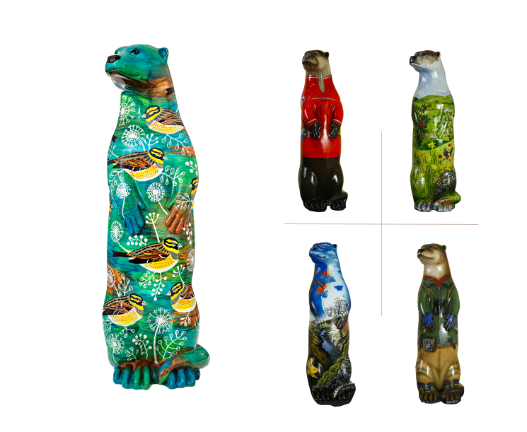 art examples of the river otter project
